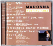 NOTHING FAILS - USA CD MAXI SINGLE